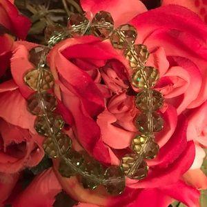 Olive Green crystal stones bracelet